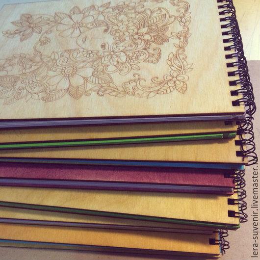 Блокноты ручной работы. Ярмарка Мастеров - ручная работа. Купить Скетчбук. Handmade. Комбинированный, скетчбук, подарок, древесина