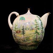 """Посуда ручной работы. Ярмарка Мастеров - ручная работа Чайник доливной """"Избушка в лесу"""". Handmade."""