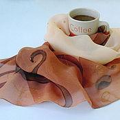 """Аксессуары ручной работы. Ярмарка Мастеров - ручная работа Платок """"Аромат кофе"""". Handmade."""