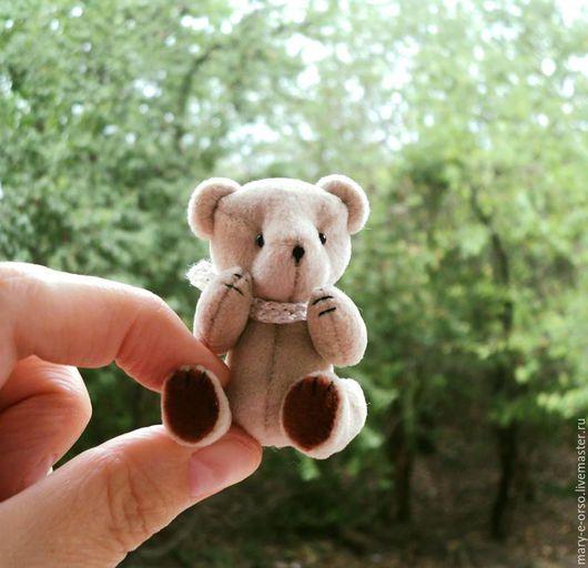 Мишки Тедди ручной работы. Ярмарка Мастеров - ручная работа. Купить Мини-мишка тедди 4,5 см. Handmade.