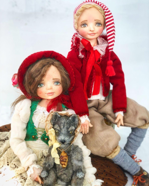 Буратино и Красная Шапочка, Коллекционные куклы, Волгоград, Фото №1