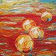 """Натюрморт ручной работы. Ярмарка Мастеров - ручная работа. Купить """"Апельсины"""" 60х60 см большая оранжевая картина маслом мастихином. Handmade."""