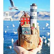 """Для дома и интерьера ручной работы. Ярмарка Мастеров - ручная работа Морская композиция """"Обитаемый островок 2"""" driftwood. Handmade."""