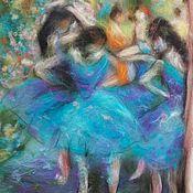"""Картины и панно ручной работы. Ярмарка Мастеров - ручная работа """"Голубые танцовщицы"""" Эдгара Дега. Handmade."""