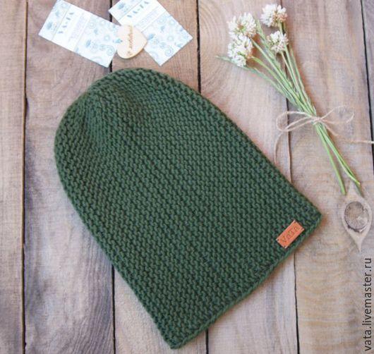 шапка вязаная бини, теплая вязаная шапка на осень, вязаная шапка спицами, шапка бини вязаная, вязаная  шапка крупной вязки, стильная вязаная шапка, вязаная модная шапка, шапка молодежная