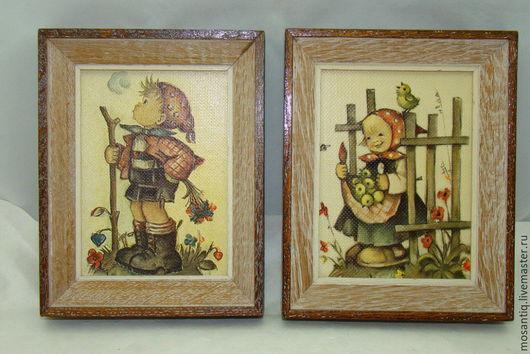 Винтажные предметы интерьера. Ярмарка Мастеров - ручная работа. Купить Принты на холсте 2 шт. (V738). Handmade. Комбинированный