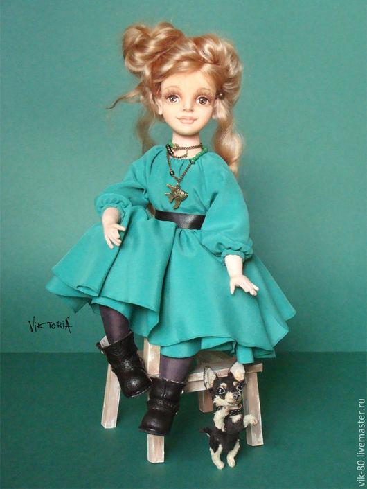 Коллекционные куклы ручной работы. Ярмарка Мастеров - ручная работа. Купить Стелла. Handmade. Морская волна, кукла в подарок, миниатюра