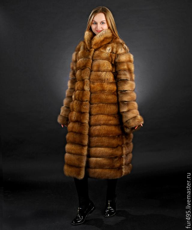 The fur of the pine Marten. Length 110 cm, Fur Coats, Dolgoprudny,  Фото №1