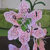 Цветы и флористика ручной работы. Ярмарка Мастеров - ручная работа Розовая лилия. Handmade.
