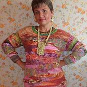 """Одежда ручной работы. Ярмарка Мастеров - ручная работа Джемпер вязаный""""Хаос"""". Handmade."""