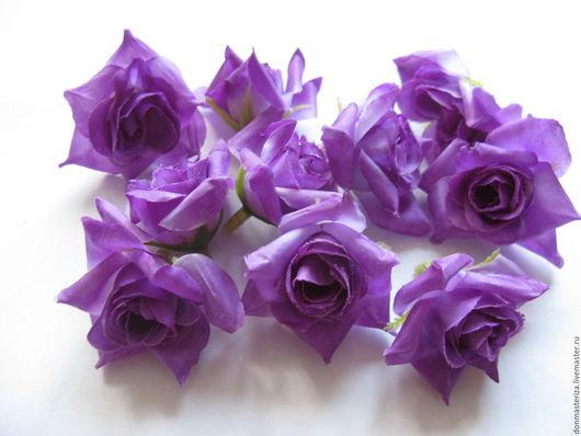 Материалы для флористики ручной работы. Ярмарка Мастеров - ручная работа. Купить Головки фиолетовых роз. Handmade. Тёмно-фиолетовый