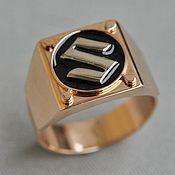Украшения handmade. Livemaster - original item Silver man ring with emerald and sapphires. Handmade.