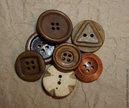 Шитье ручной работы. Ярмарка Мастеров - ручная работа. Купить Пуговицы деревянные 19-24мм. Handmade. Пуговицы, пуговицы для шитья