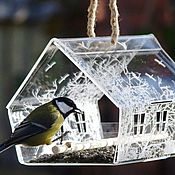 Дача и сад handmade. Livemaster - original item A bird feeder princely house engraved - an original gift. Handmade.
