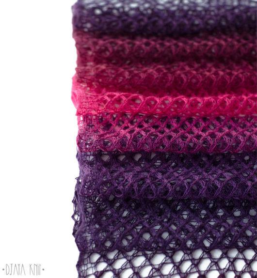 Шарфы и шарфики ручной работы. Ярмарка Мастеров - ручная работа. Купить Шарф ажурный Фиолетовая фуксия (длинный). Handmade.