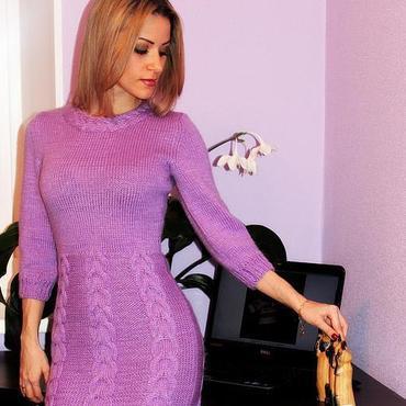 Одежда ручной работы. Ярмарка Мастеров - ручная работа Платье Parfait amour, купить теплое платье, зимнее платье. Handmade.