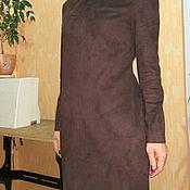 Одежда ручной работы. Ярмарка Мастеров - ручная работа Платье из искусственной замши. Handmade.