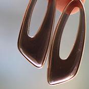 Украшения ручной работы. Ярмарка Мастеров - ручная работа раух-топаз резной 4 см Серебряные серьги ручной работы с. Handmade.