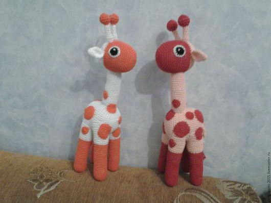 Игрушки животные, ручной работы. Ярмарка Мастеров - ручная работа. Купить Жираф. Handmade. Вязание крючком, животные, разноцветный, хлопок