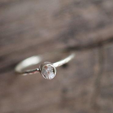 Украшения ручной работы. Ярмарка Мастеров - ручная работа 16.5 дикий необработанный алмаз Кольцо серебряное. Handmade.