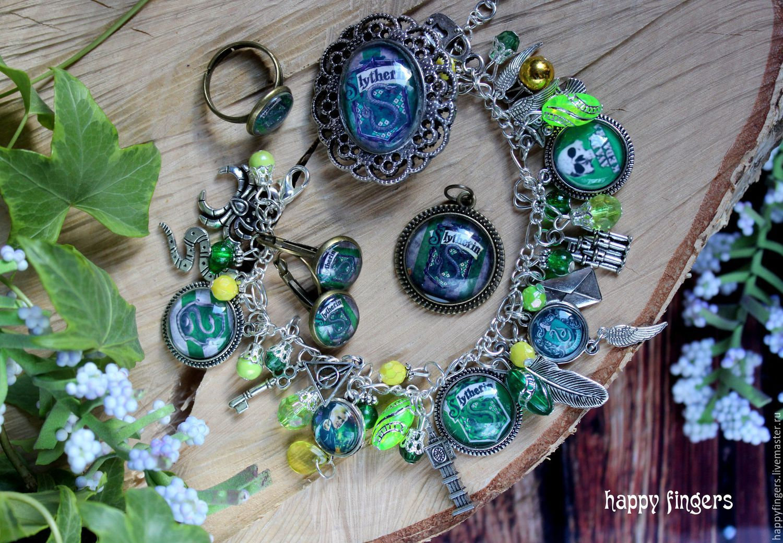 Slytherin jewelry, Harry Potter slytherin Draco Malfoy, Jewelry Sets, Elektrostal,  Фото №1