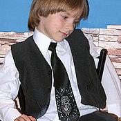 Аксессуары handmade. Livemaster - original item Kid`s tie, cartoon, Hedgehog in the fog, Leopold.. Handmade.