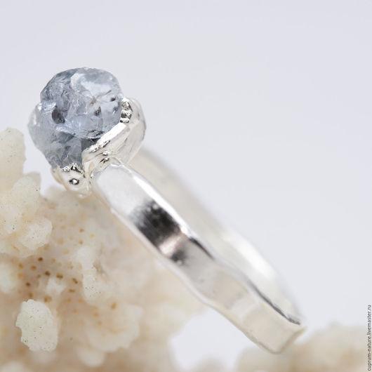 """Кольца ручной работы. Ярмарка Мастеров - ручная работа. Купить Кольцо """"Целестин"""" (натуральные камни, кристаллы) 54/27. Handmade. Голубой"""
