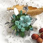 """Украшения ручной работы. Ярмарка Мастеров - ручная работа """"Цветы с ароматом мяты"""" - брошь. Handmade."""