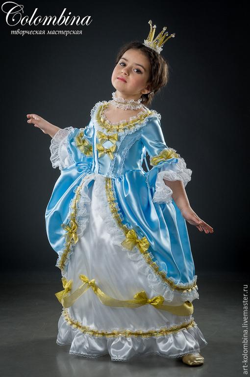 Детские карнавальные костюмы ручной работы. Ярмарка Мастеров - ручная работа. Купить костюм принцессы. Handmade. Голубой
