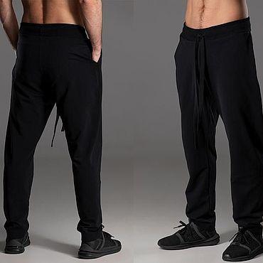 Одежда ручной работы. Ярмарка Мастеров - ручная работа Брюки: Мужские трикотажные брюки. Handmade.