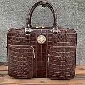 Сумки и аксессуары handmade. Livemaster - original item Men`s briefcase bag made of embossed crocodile leather.. Handmade.
