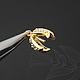 Шапочки-бейлы, 10х11 мм, из латуни с позолотой. Шапочки украшены фианитами.\r\nКачественная корейская фурнитура для украшений.