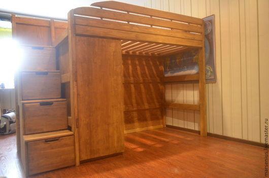 кровать чердак из лиственницы