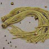 Фурнитура ручной работы. Ярмарка Мастеров - ручная работа Вискозная кисть 22см - золото. Handmade.