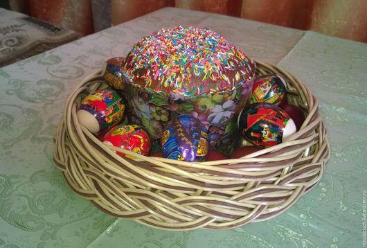 Подарки на Пасху ручной работы. Ярмарка Мастеров - ручная работа. Купить Пасхальное блюдо для яиц и кулича.. Handmade. Бежевый, корзиночка