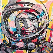 Картины и панно handmade. Livemaster - original item Portrait Of Gagarin