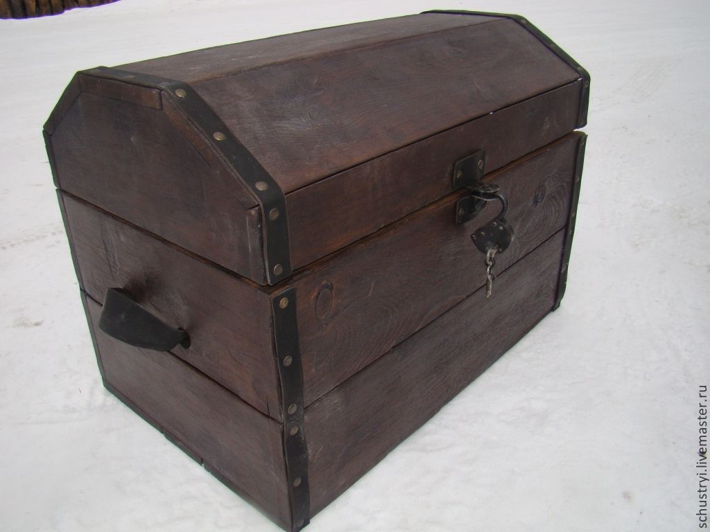 Baskets & Boxes handmade. Livemaster - handmade. Buy Chest, antique solid cedar Attic.Rustic style, furniture