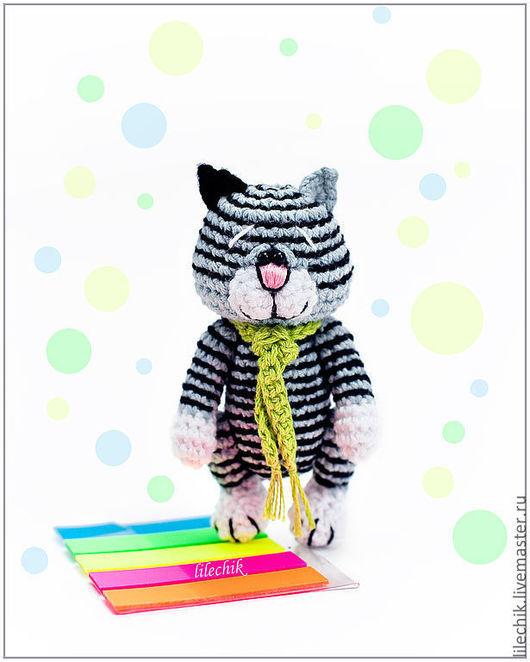 Игрушки животные, ручной работы. Ярмарка Мастеров - ручная работа. Купить Полосатый котик. Handmade. Вязаная игрушка, сувениры и подарки