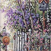 """Картины и панно ручной работы. Ярмарка Мастеров - ручная работа Вышитая картина """"Калитка в сад любимой"""". Handmade."""