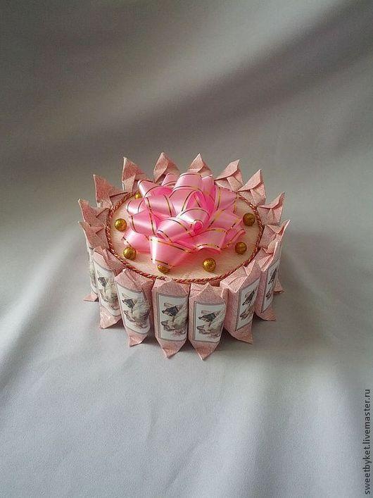 """Кулинарные сувениры ручной работы. Ярмарка Мастеров - ручная работа. Купить Торт из конфет """"Визит"""". Handmade. Торт из конфет"""