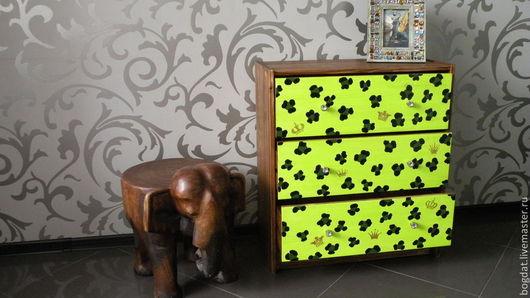 """Мебель ручной работы. Ярмарка Мастеров - ручная работа. Купить Комод """"Лео"""". Handmade. Ярко-зелёный, комод леопард"""