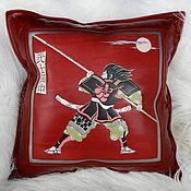 Для дома и интерьера handmade. Livemaster - original item SAMURAI 2 leather cushion. Handmade.