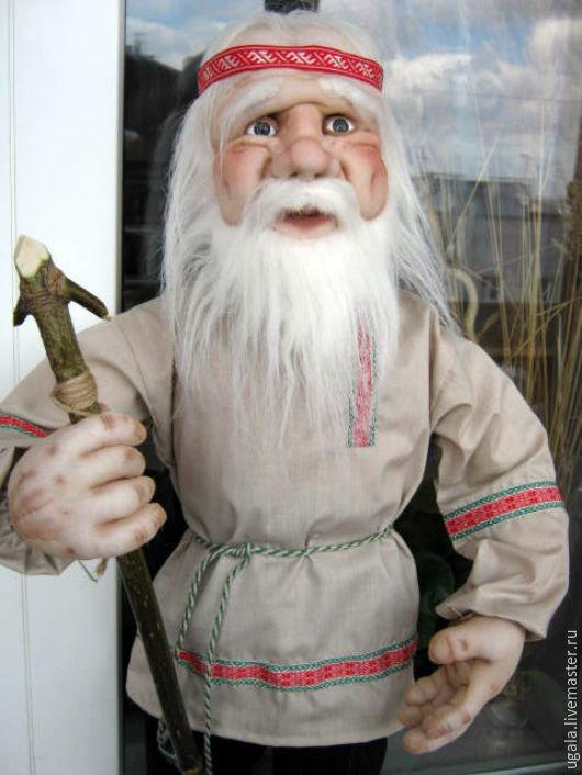 Коллекционные куклы ручной работы. Ярмарка Мастеров - ручная работа. Купить Кукла Дед-славянин. Handmade. Белый, странник