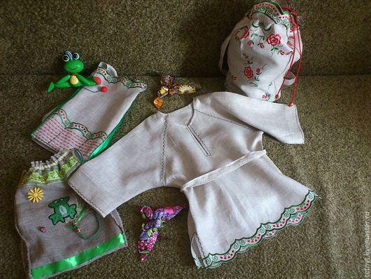Детские карнавальные костюмы ручной работы. Ярмарка Мастеров - ручная работа. Купить Храбрый портняжка. Handmade. Зеленый, экологические, лён