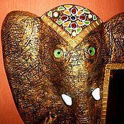 """Для дома и интерьера ручной работы. Ярмарка Мастеров - ручная работа Зеркало""""Золотой слон"""".. Handmade."""