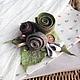 """Броши ручной работы. Ярмарка Мастеров - ручная работа. Купить Брошь """" Мгновение"""". Handmade. Валяние, розы, бохо украшения"""