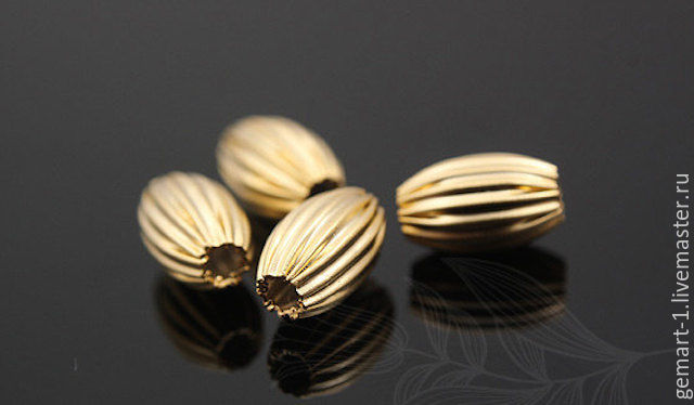 Bead reflenye art. 4-1, gold plated. Accessories from South Korea, Beads1, Moscow,  Фото №1