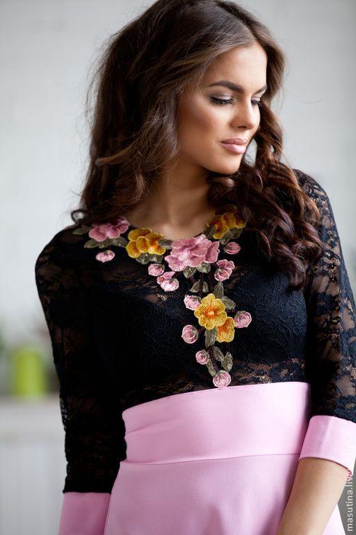 """Платья ручной работы. Ярмарка Мастеров - ручная работа. Купить Платье """"Розовые сны"""". Handmade. Розовый, платье на заказ, креп"""