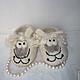 Детская обувь ручной работы. Ярмарка Мастеров - ручная работа. Купить Тапочки валяные  Барашки детские. Handmade. Белый