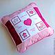 Вариант подушки для девочки, подарок новорожденной
